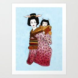 Mother and Child II Art Print