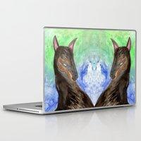 doberman Laptop & iPad Skins featuring Doberman by gunberk