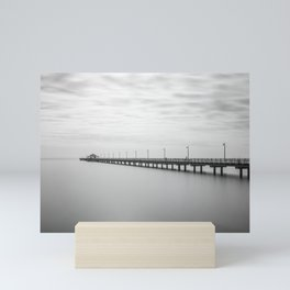 Ghostly figures on Shorncliffe pier Mini Art Print