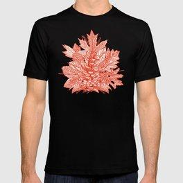 forest floor fire orange ivory T-shirt