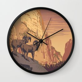 Zion National Park Dawn Wall Clock