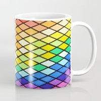 pantone Mugs featuring Geo-Pantone by Aries Art