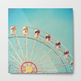 Summer Ferris Wheel Metal Print