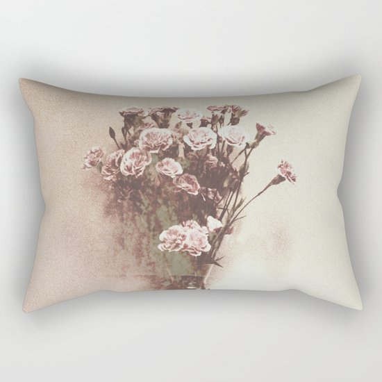 Abstract Vintage Flowers Rectangular Pillow