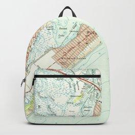 Vintage Map of Wildwood NJ (1955) Backpack