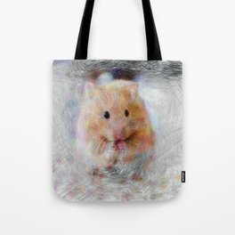 Artistic Animal Hamster Tote Bag