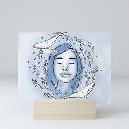 Tranquility in Blue Mini Art Print