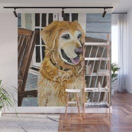 Zildjian Golden Retriever Dog portrait Wall Mural