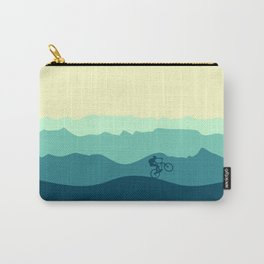 Mountain Biker cycling in the mountains  Carry-All Pouch