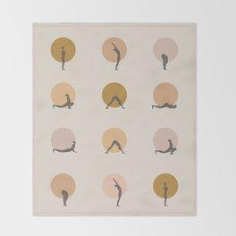 sun salutation I –golden Throw Blanket