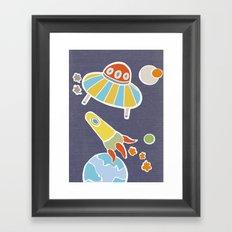 space flying Framed Art Print