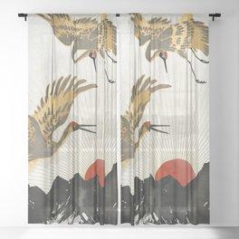Elegant Flight II Sheer Curtain