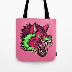 Pink Punk Wolf Tote Bag