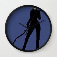 durarara Wall Clocks featuring Celty by JHTY