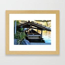 Sheltered Boat Framed Art Print