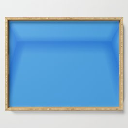 Blue Empty Room Serving Tray