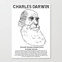 darwin Canvas Prints featuring Charles Darwin by Ron Trickett
