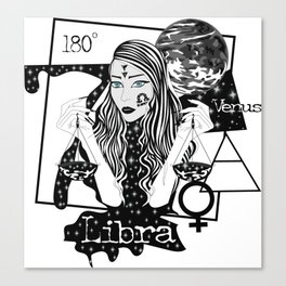 Libra - Zodiac Sign Canvas Print