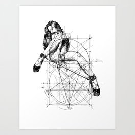 Samael Lilith and the Golden ratio Art Print