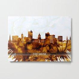Fort Wayne Indiana Skyline Metal Print