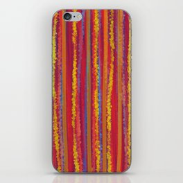 Stripes  - Cheerful yellow orange red and blue iPhone Skin