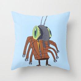 Biz Bug Throw Pillow