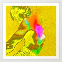 stay gold Art Prints featuring stay gold by Robert Alan