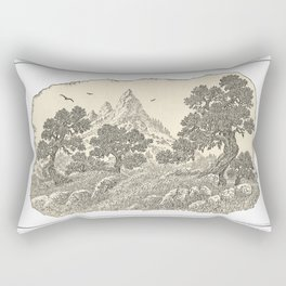 CALIFORNIA OAKS AND PINNACLE PEN DRAWING Rectangular Pillow