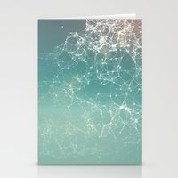 physics Stationery Cards featuring Fresh summer abstract background. Connecting dots, lens flare by AMULET