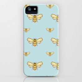 Bumblebee on Mint iPhone Case