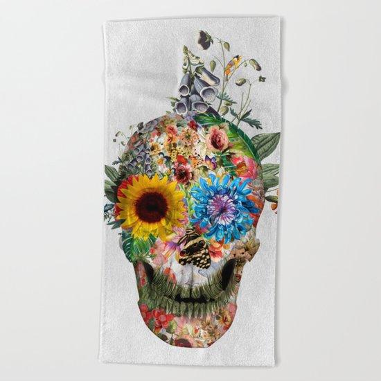 Skull - Punks Not Dead II Beach Towel