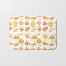 yellow leaves collection Bath Mat