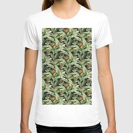 Boho Jungle Style Green Forest Pattern Illustration T-shirt