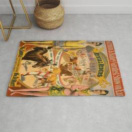 Vintage Circus Poster Rug