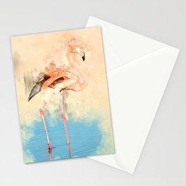 Flamingo Love #bird #watercolor #society6 Stationery Cards