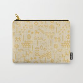 Peoples Story - Gold on Beige Carry-All Pouch
