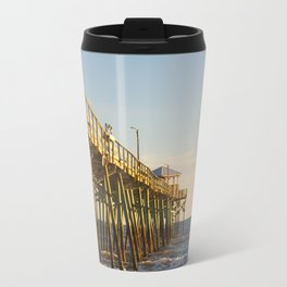 Into the Sea, Fishing Pier and Ocean Travel Mug