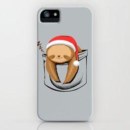 Sloth in a Pocket Xmas iPhone Case