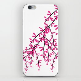 Pink Tree Branch iPhone Skin
