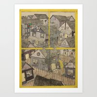 At home what you know. Art Print