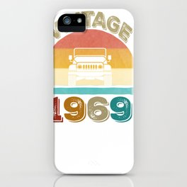 Vintage 1969 Jeeps 50th Birthday Retro Sunset Dad Mom Gift Pullover Hoodie iPhone Case
