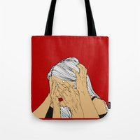 introvert Tote Bags featuring Introvert 4 by Heidi Banford