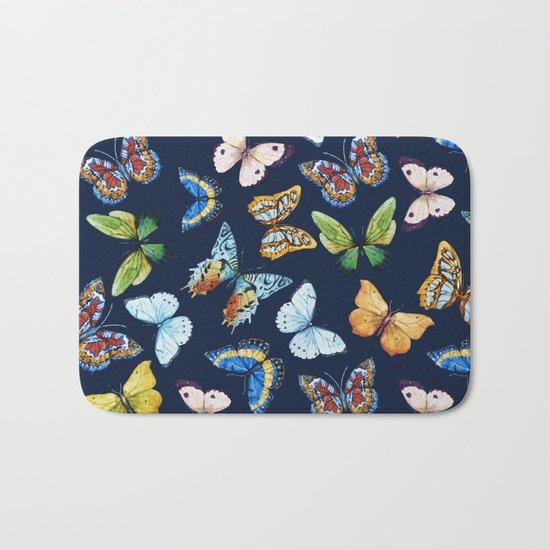 Butterfly Pattern 03 Bath Mat