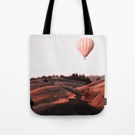 Air Balloon Road Tote Bag