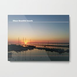 Chase Sunsets Metal Print