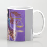 libra Mugs featuring Libra by Artist Andrea