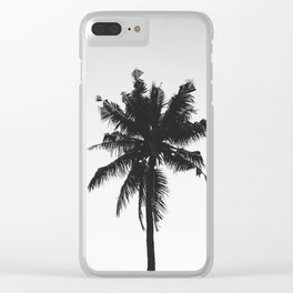 Palm, Tree, Nature, Tropical, Modern, Minimal, Interior, Wall art Clear iPhone Case