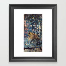 THE WOLF HOWLED AT THE STAR FILLED NIGHT Framed Art Print