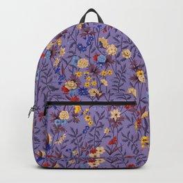 William Kilburn Garden in purple Backpack