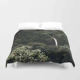 Waterfall / Costa Rica Duvet Cover